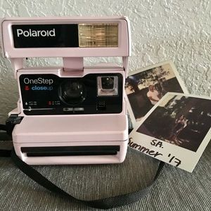 Pink Retro Polaroid Camera